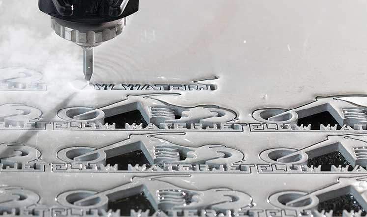 Waterjet cutting detailed design, illustrating quality part that can be cut quickly and accurately.